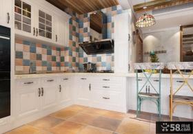 美式乡村风格室内厨房装修效果图片