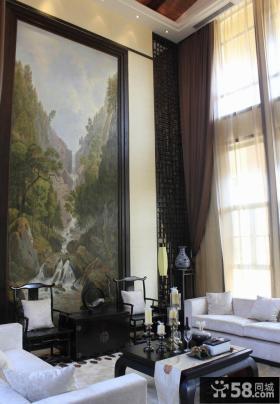 现代简约别墅客厅装饰画