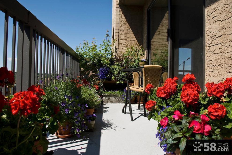 家庭阳台花园设计效果图欣赏