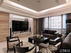 大气现代风格三室两厅家居设计装修效果图