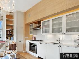 130平米三室二厅地中海风格厨房橱柜装修效果图大全2014图片