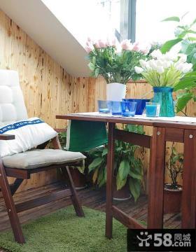1平米美式卧室小阳台装修