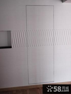 电视背景墙隐形门装修图片