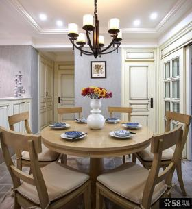 美式新古典风格家居餐厅设计装修图片