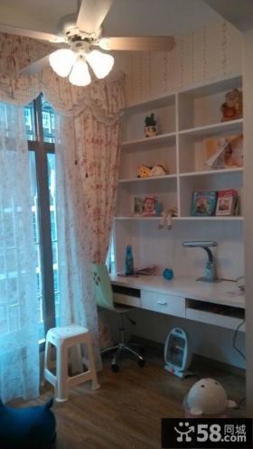 儿童房间书桌书柜图片欣赏