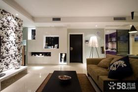 简约风格94平米两房两厅家庭装修设计图片
