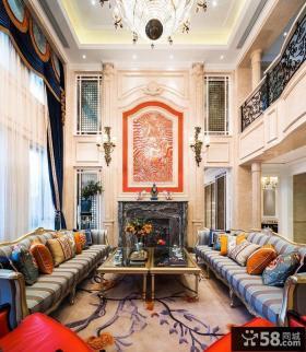 欧式新古典风格别墅室内装修效果图