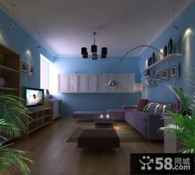 小清新客厅吊顶设计效果图