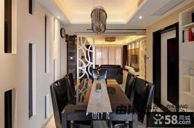 现代风格三居室餐厅吊顶效果图