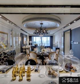 新古典美式风格设计餐厅吊顶图片
