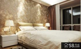 主卧室床头壁纸图片欣赏