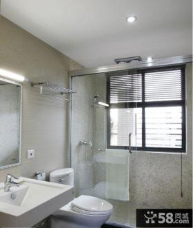 复式卫生间浴室门图片
