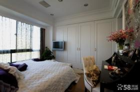 美式简约风格卧室电视背景墙效果图