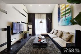 家装设计时尚客厅电视背景墙欣赏