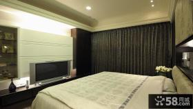 现代卧室电视背景墙设计