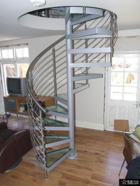 复式旋转楼梯设计图欣赏