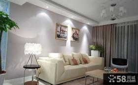 客厅沙发背景墙挂画效果图