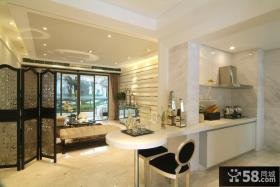 欧式风格客厅厨房隔断设计