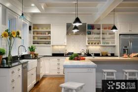 美式风格厨房整体橱柜家具图片