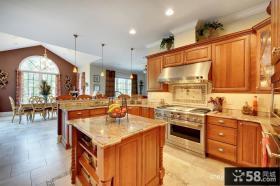 美式风格别墅厨房装饰效果图