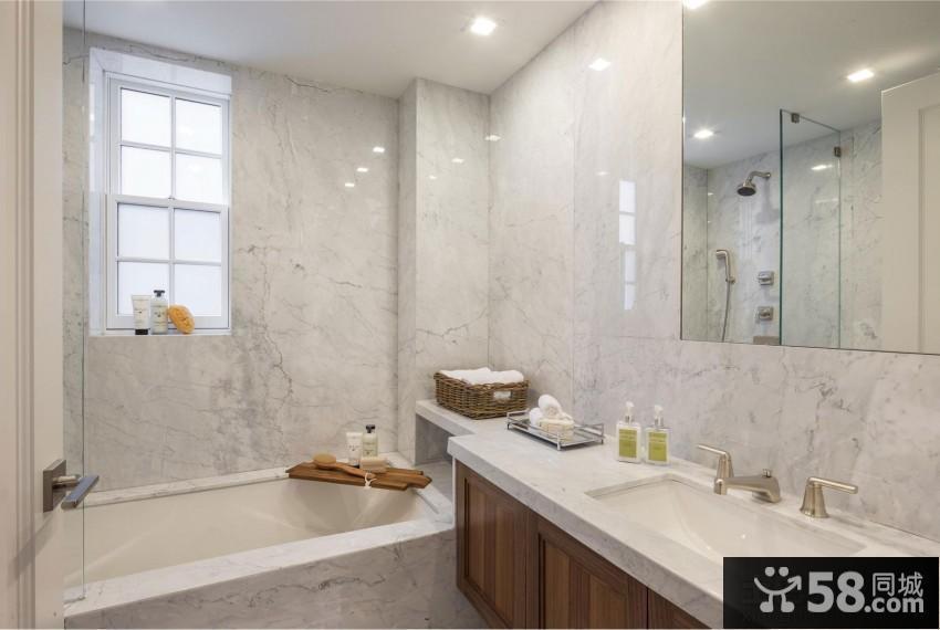 时尚欧美风格浴室装修图片