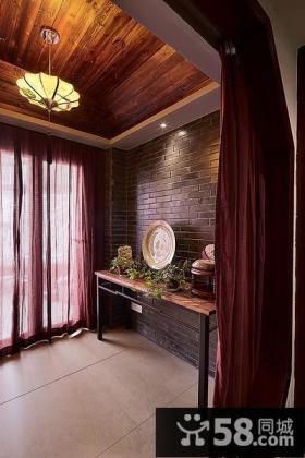 中式阳台设计效果图