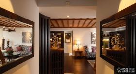 中式别墅室内玄关装修图片欣赏