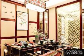 豪华新中式餐厅设计效果图