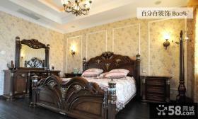 欧式古典风格别墅卧室装修效果图片