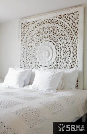 16万打造浪漫欧式风格复式卧室背景墙装修效果图大全2012图片