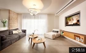 简约风格简单客厅电视墙装修效果图
