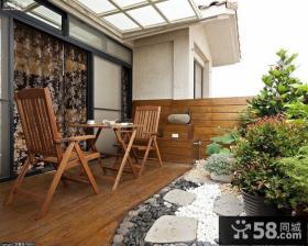 阳台木地板效果图