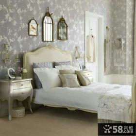 欧式卧室墙纸图片