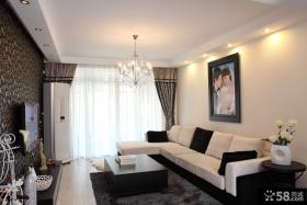 现代客厅电视背景墙家庭装修效果图