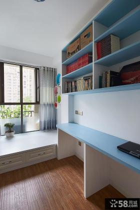 现代地中海风格设计书房装修图片