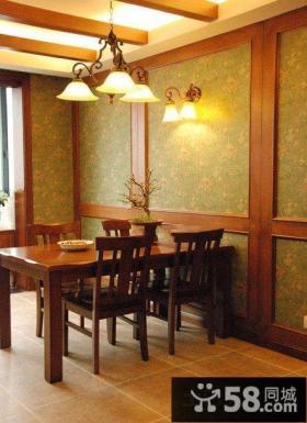 中式古典餐厅背景墙造型
