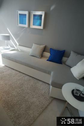 简约风格沙发背景墙设计效果图