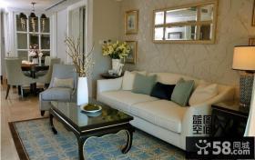 欧式风格客厅花纹墙纸贴图
