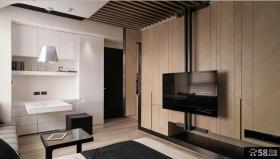 70平米小户型客厅电视机背景墙效果图