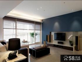 现代风格瓷砖客厅电视背景墙装修效果图