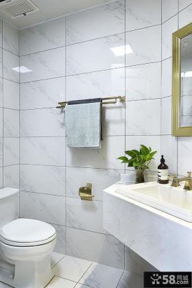 北欧风格大理石瓷砖卫生间效果图