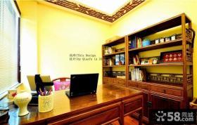 新中式别墅书房设计效果图