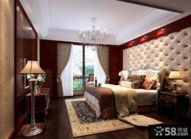 简约中式风格卧室背景墙装修效果图