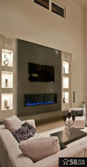 家庭装饰客厅电视背景墙图