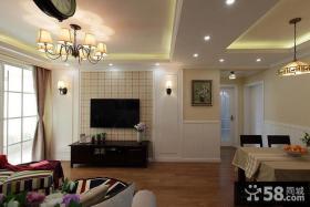 现代风格室内家装电视背景墙设计