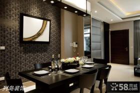 现代简约风格餐厅背景墙挂画效果图