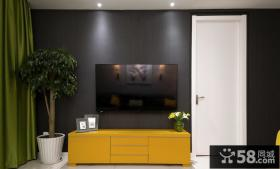 现代简约客厅电视背景墙装饰设计图片