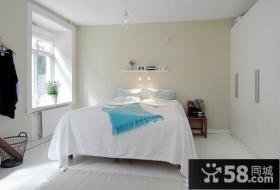 白色纯净的复式楼卧室装修效果图大全2014图片
