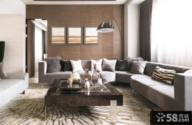 简约客厅沙发背景墙装饰画图片