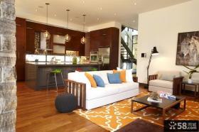 三室两厅现代风格客厅装饰效果图